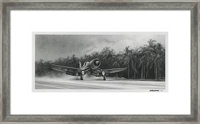 Palm Trees And Pistons Framed Print