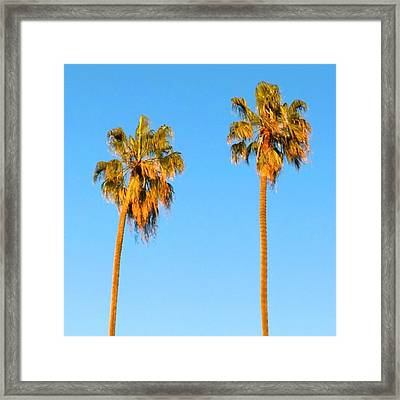 #palm #trees At Sunset. #california Framed Print