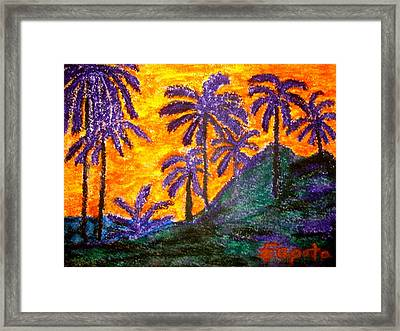 Palm Trees In Paradise Framed Print by Felix Zapata