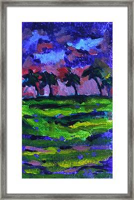Palm Trees Redux Framed Print by Jan Bennicoff
