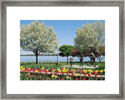 Palmer Park In Spring Framed Print