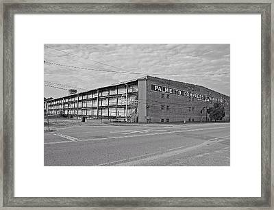 Palmetto Compress Warehouse Bw Framed Print