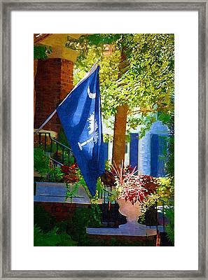 Palmetto Flag Framed Print