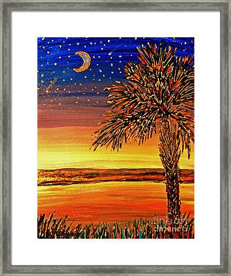 Palmetto Sunset  Framed Print