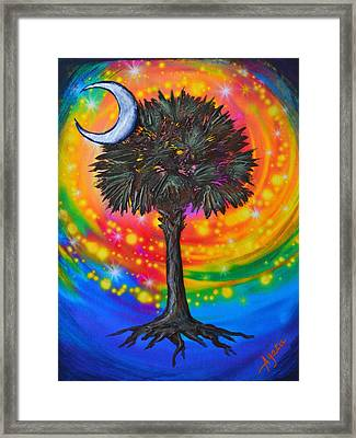 Palmetto Tree Of Life Framed Print