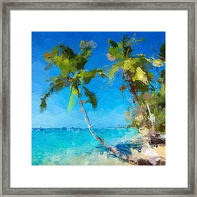 Palms Beach Abstract  Framed Print
