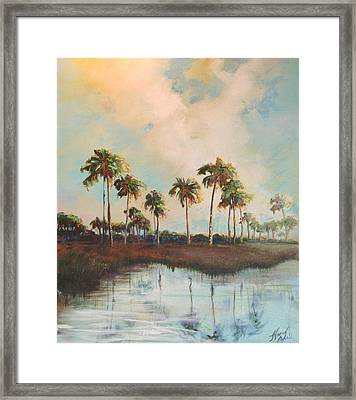 Palms Of Course Framed Print by Michele Hollister - for Nancy Asbell