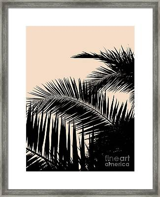 Palms On Pale Pink Framed Print