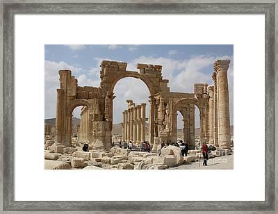 Palmyra Before...triumphal Arch Framed Print