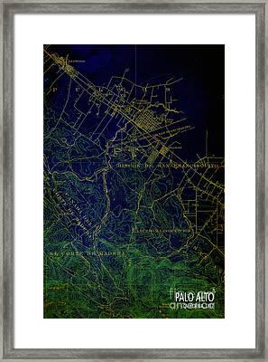 Palo Alto Map 1897 Framed Print