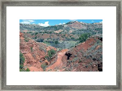 Palo Duro Canyon Framed Print