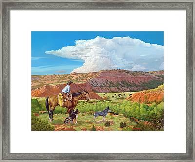 Palo Duro Serenade Framed Print