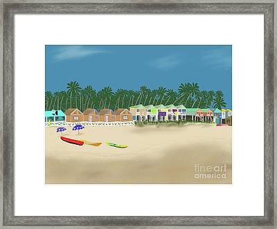 Palolem Beach Goa Framed Print