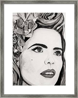 Paloma B And W Framed Print by Christel  Roelandt