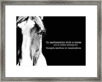 Palomino Art Quote Framed Print by JAMART Photography