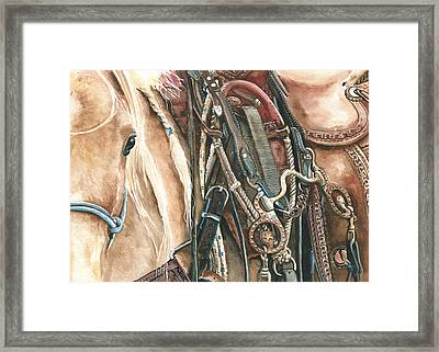 Palomino Framed Print by Nadi Spencer