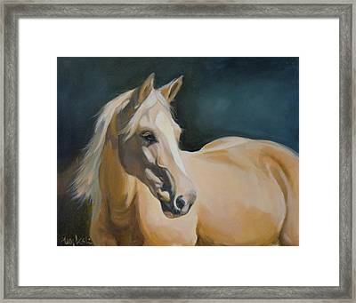 Palomino On Blue Framed Print