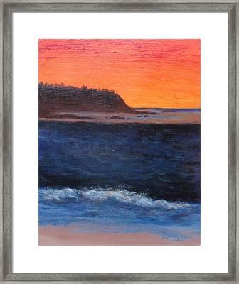 Palos Verdes Sunset Framed Print by Jamie Frier