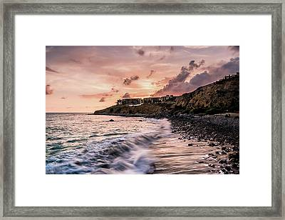 Palos Verdes Sunset Framed Print by Seascaping Photography