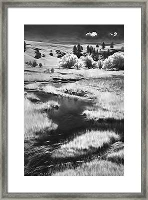 Palouse Back Roads II Framed Print