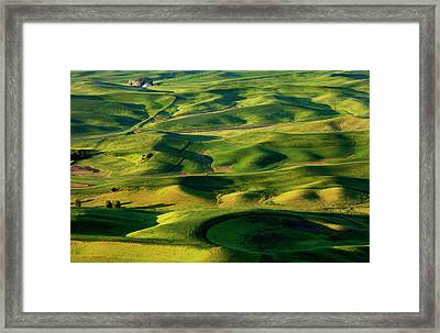 Palouse Contours Framed Print by Mike  Dawson