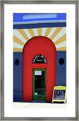 Palouse Door Framed Print by Sarah Hamilton