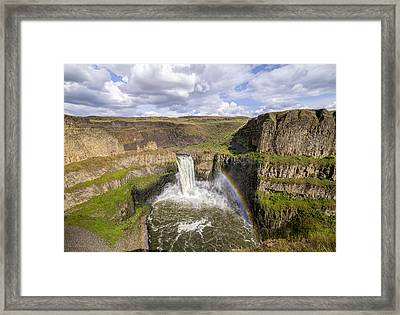 Framed Print featuring the photograph Palouse Falls by Albert Seger