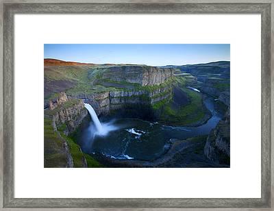 Palouse Falls Dusk Framed Print