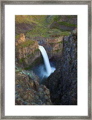 Palouse Falls Framed Print by Mike  Dawson