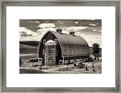 Palouse Icon In Sepia Framed Print by Mark Kiver