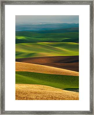 Palouse Layers Framed Print by Thorsten Scheuermann