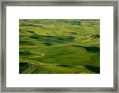 Palouse Spring Framed Print by Mike  Dawson