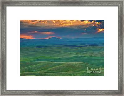 Palouse Stormrise Framed Print