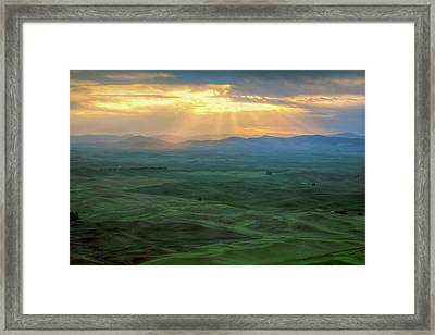 Palouse Sunrise - Washington Framed Print