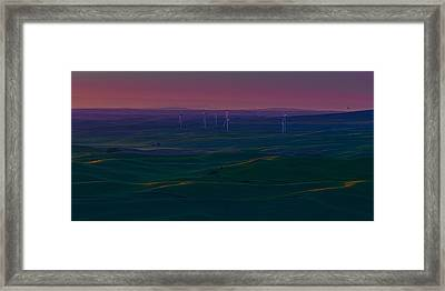Palouse Sunset 2 Framed Print by Thomas Hall