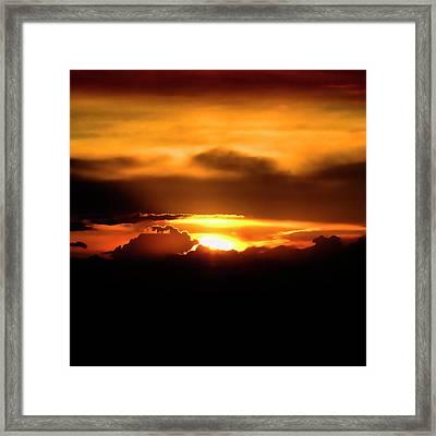 Palouse Sunset Framed Print by David Patterson