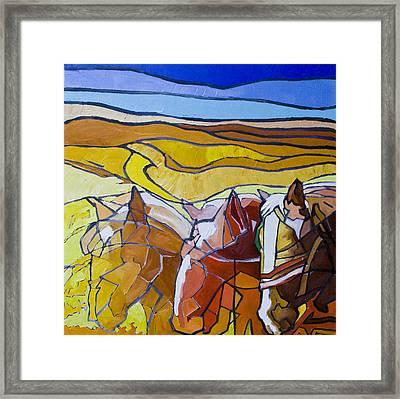 Palouse Trio Framed Print by Gregg Caudell