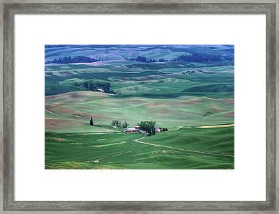Palouse - Washington - Farms - 5 Framed Print