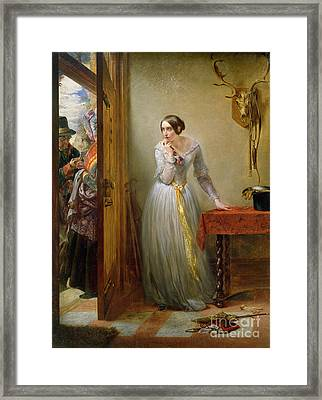 Palpitation Framed Print by Charles West Cope