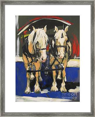 Framed Print featuring the painting Pals by Debora Cardaci