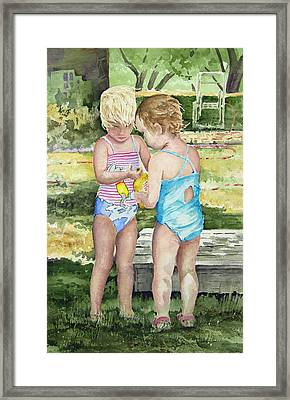 Pals Share Framed Print by Sam Sidders