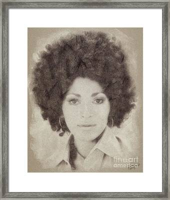 Pam Grier, Vintage Actress Framed Print