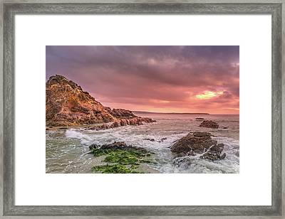 Pambula Rocks Framed Print