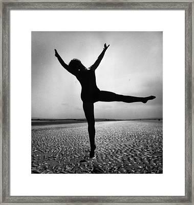 Pamela Dancing Framed Print by John Chilingworth