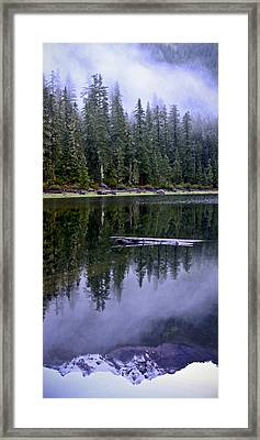 Pamelia Lake Reflection Framed Print