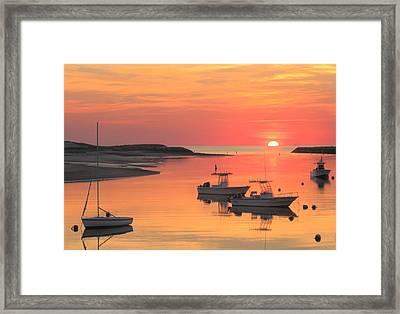 Pamet Harbor Cape Cod Truro Sunset Framed Print by John Burk