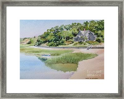 Pamet Harbor Cottage Framed Print by Karol Wyckoff