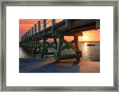 Pamet Harbor Sunset Framed Print