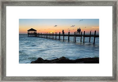 Pamlico Sound Sunset Framed Print by Bryan Bzdula
