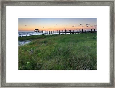 Pamlico Sunset Framed Print by Bryan Bzdula